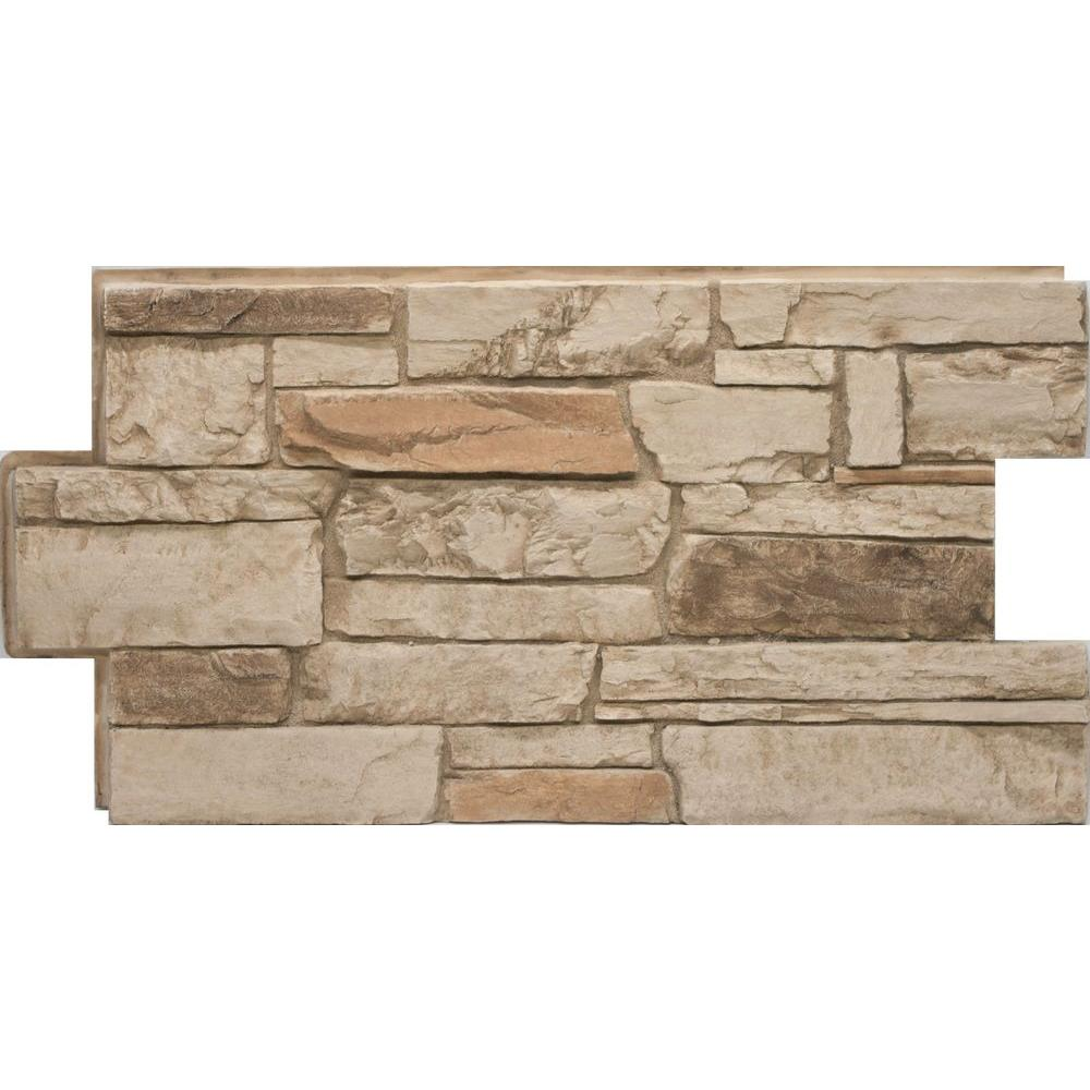Urestone ledgestone 35 desert tan 24 in x 48 in stone for Austin stone siding