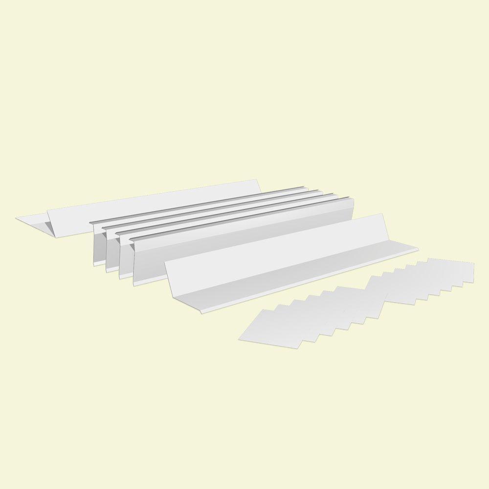 Van Mark Uniflash Aluminum White Reglet Flashing Kit
