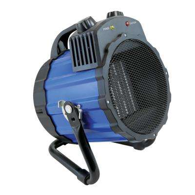 1,500-Watt Portable Ceramic Utility Heater with Pivoting Cradle Base in Blue