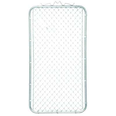 38 in. W x 72 in. H Galvanized Steel Bent Frame Walk-Through Chain Link Fence Gate