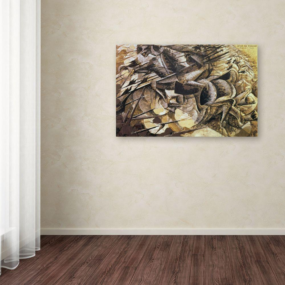 Trademark Fine Art 14 in. x 19 in. The Charge of the Lancers Canvas Art