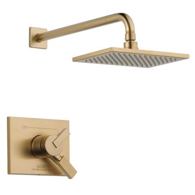 Vero 1-Handle Shower Faucet Trim Kit in Champagne Bronze (Valve Not Included)