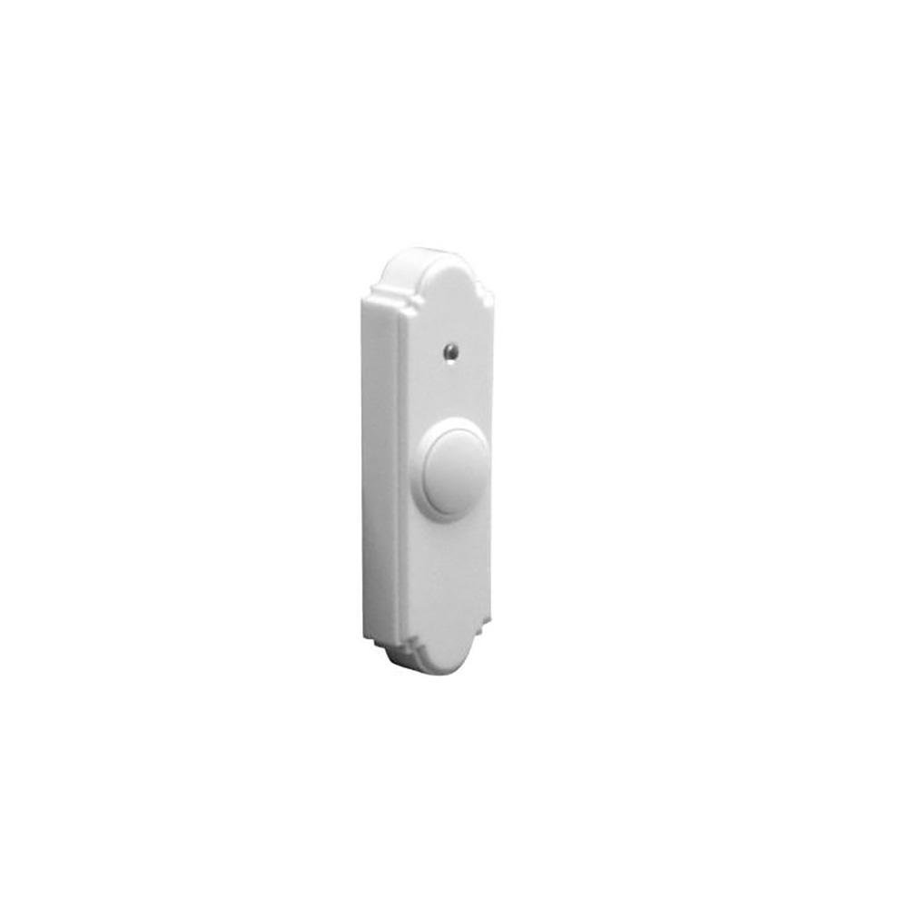 Wireless Battery Operated Door Bell Push Button, White