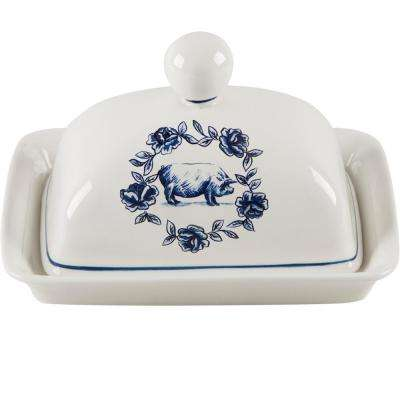 7 in. Pig Butter Dish with Lid