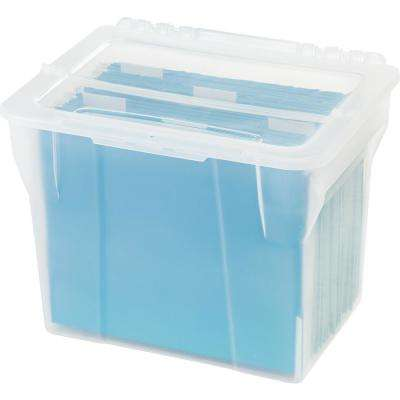 Split-Lid Letter Size File Storage Box in Clear (4 per Pack)