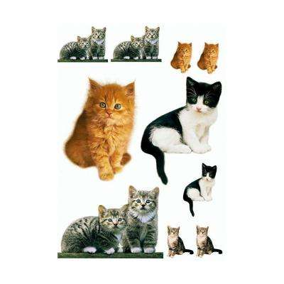 27 in. x 19 in. Kitty Wall Decal