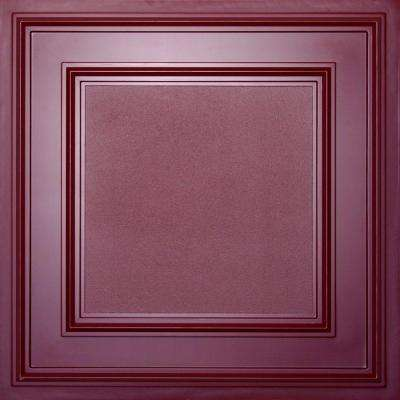 Cambridge Merlot 2 ft. x 2 ft. Lay-in or Glue-up Ceiling Panel (Case of 6)