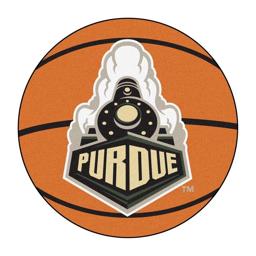 NCAA Purdue University Orange 2 ft. x 2 ft. Round Area Rug