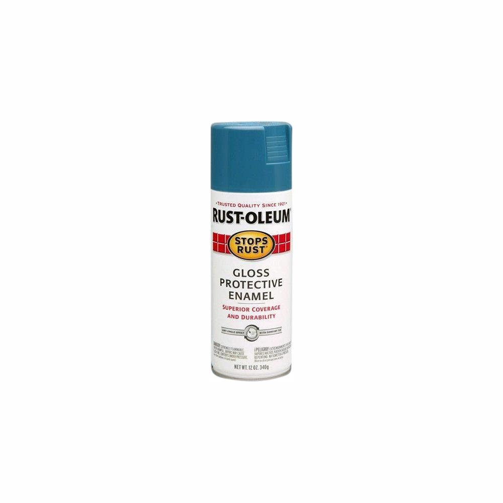 Rust-Oleum Stops Rust 12 oz  Protective Enamel Gloss Maui Blue Spray Paint  (6-Pack)