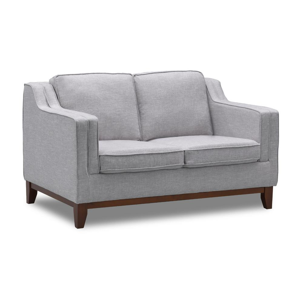 Incredible Todays Mentality Genesis Light Gray Loveseat Tmgelswtlgrhd Gmtry Best Dining Table And Chair Ideas Images Gmtryco