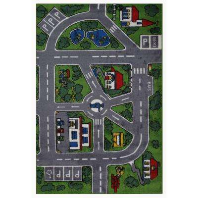 Supreme Streets Multi Colored 5 ft. 3 in. x 7 ft. 6 in. Area Rug