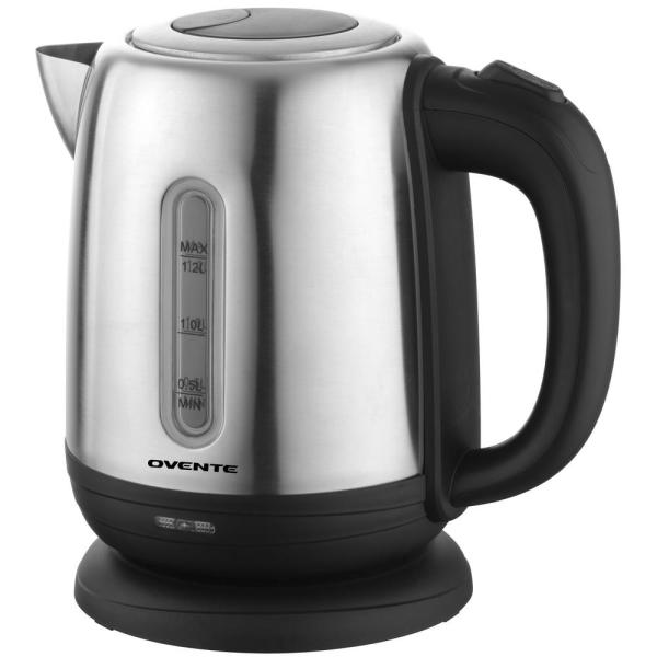 Ovente 5-Cup Stainless Steel Cordless Electric Kettle with Cord Storage KS22S