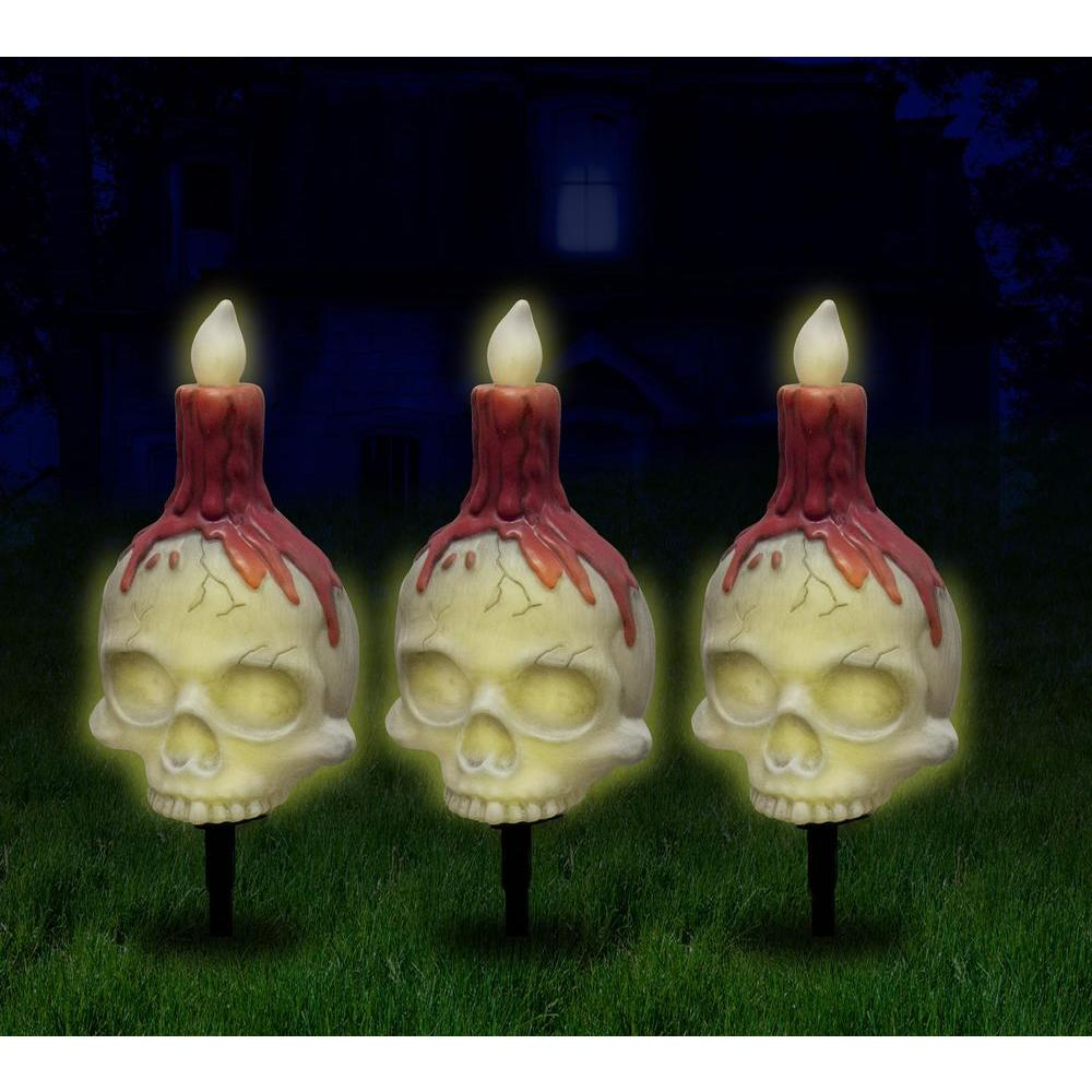 null Skull Candle Pathway Markers (Set of 3)