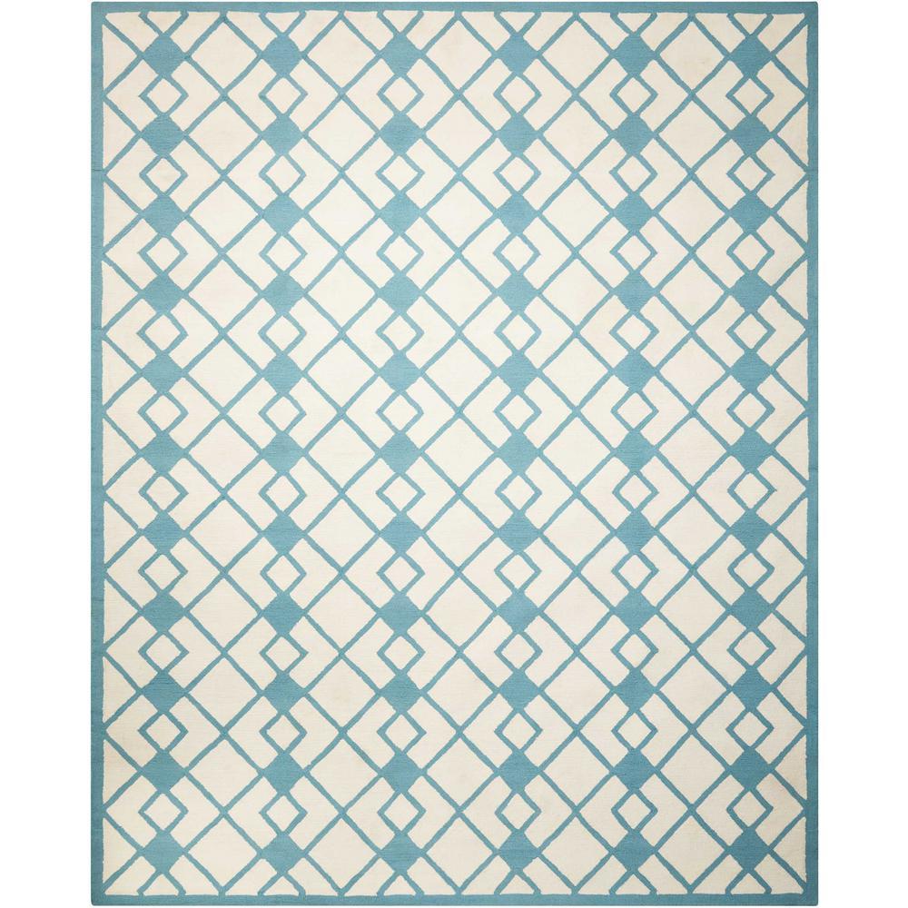 Decor Ivory/Blue 5 ft. x 7 ft. Area Rug
