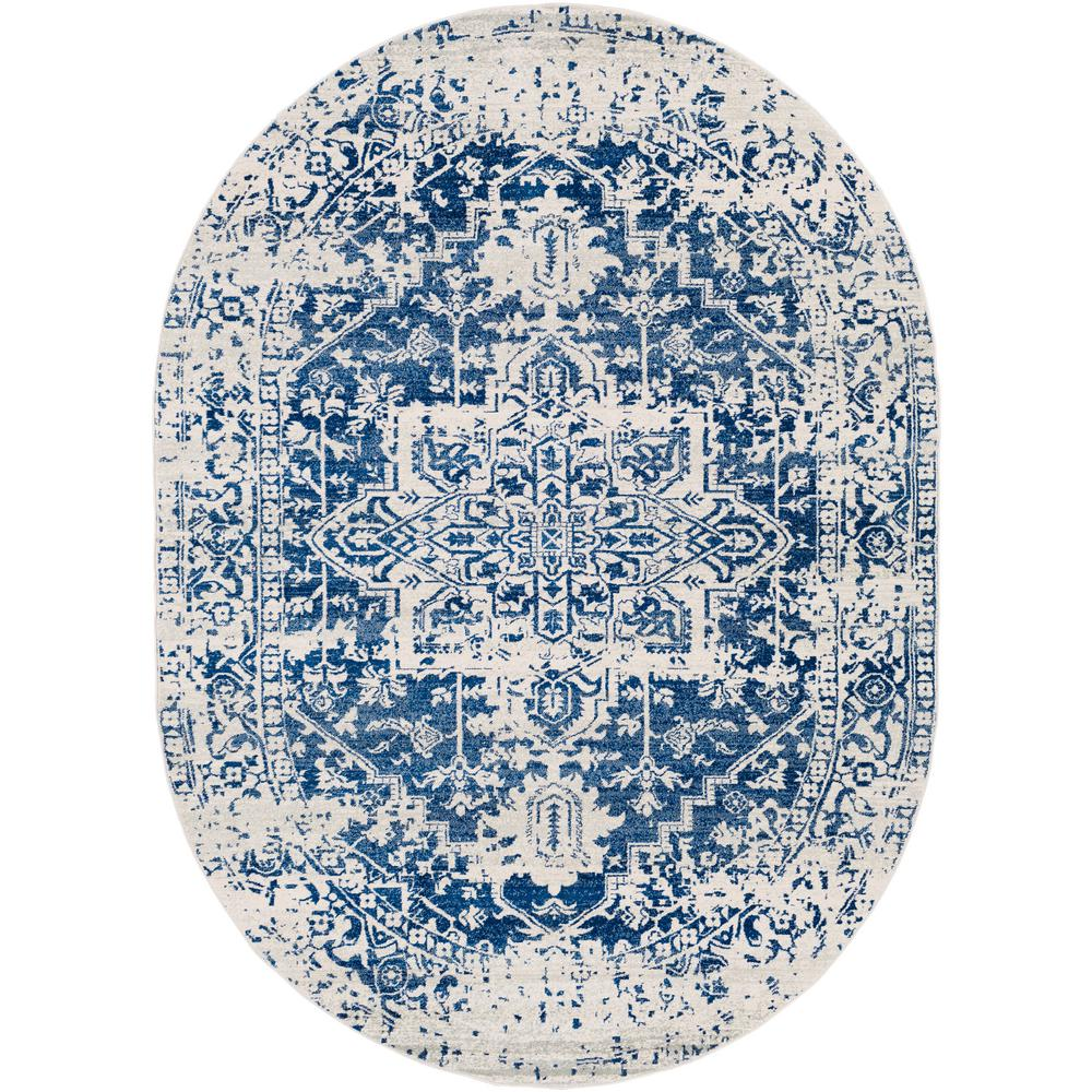 Artistic Weavers Demeter Dark Blue 6 ft. 7 in. x 9 ft. Oval Oval Area Rug was $320.01 now $144.28 (55.0% off)