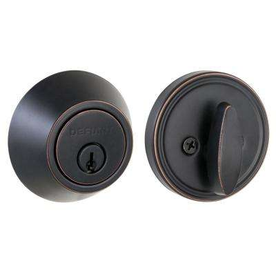 Single Cylinder Aged Bronze Deadbolt
