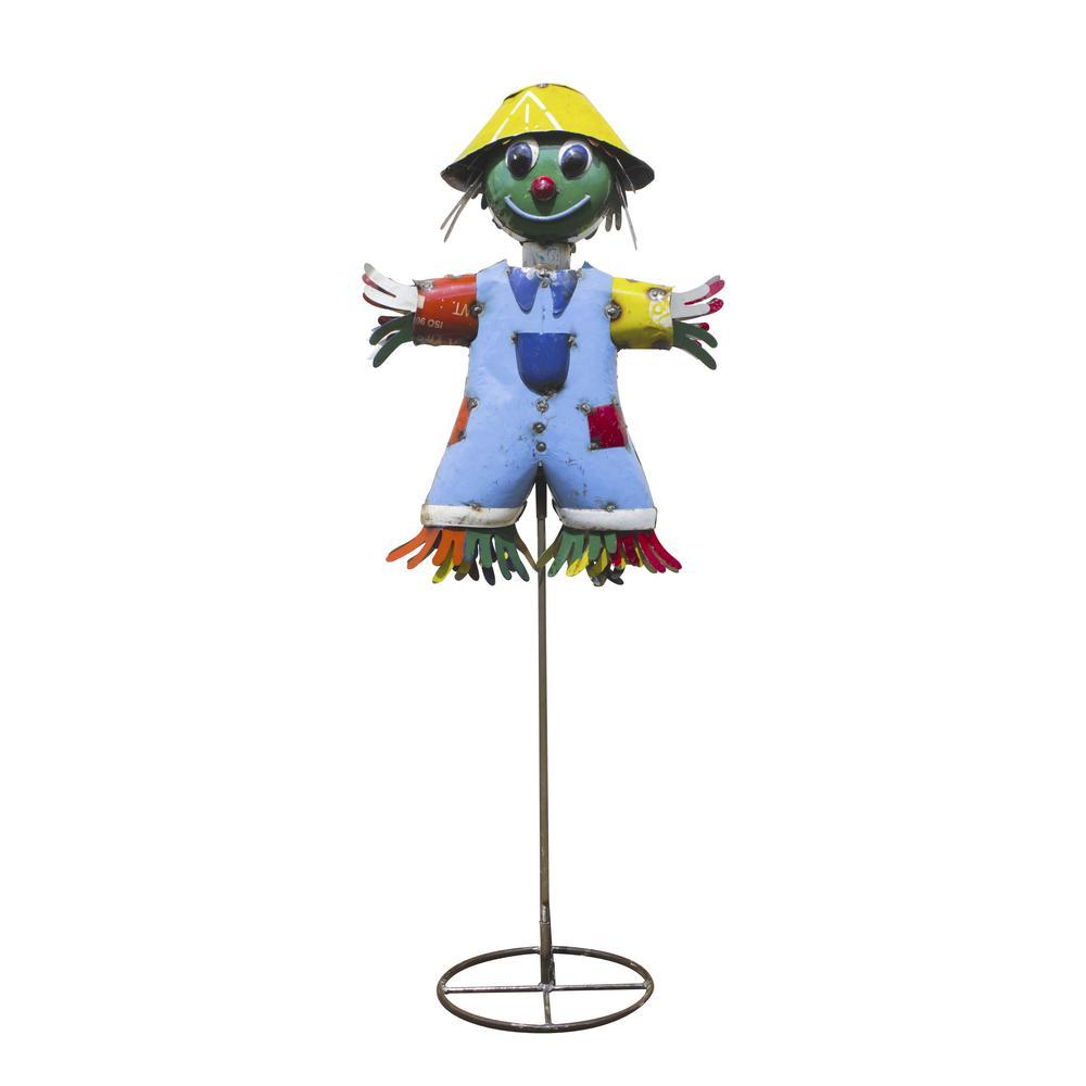 50 in. Summer Scarecrow Garden Statue