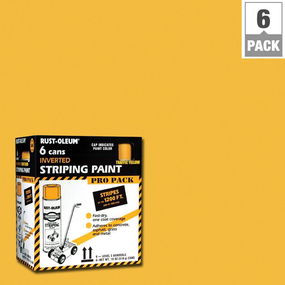 Rust-Oleum Professional 18 oz. Flat Traffic Yellow Inverted Striping ...