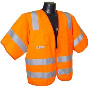 Radians Std Class 3 2X-Large Orange Solid Safety Vest by Radians