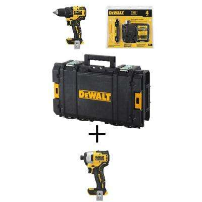 ATOMIC 20-Volt MAX Brushless Cordless 1/2 in. Drill/Driver Kit w/ 22 in. Toolbox w/ Bonus Bare ATOMIC Impact Driver