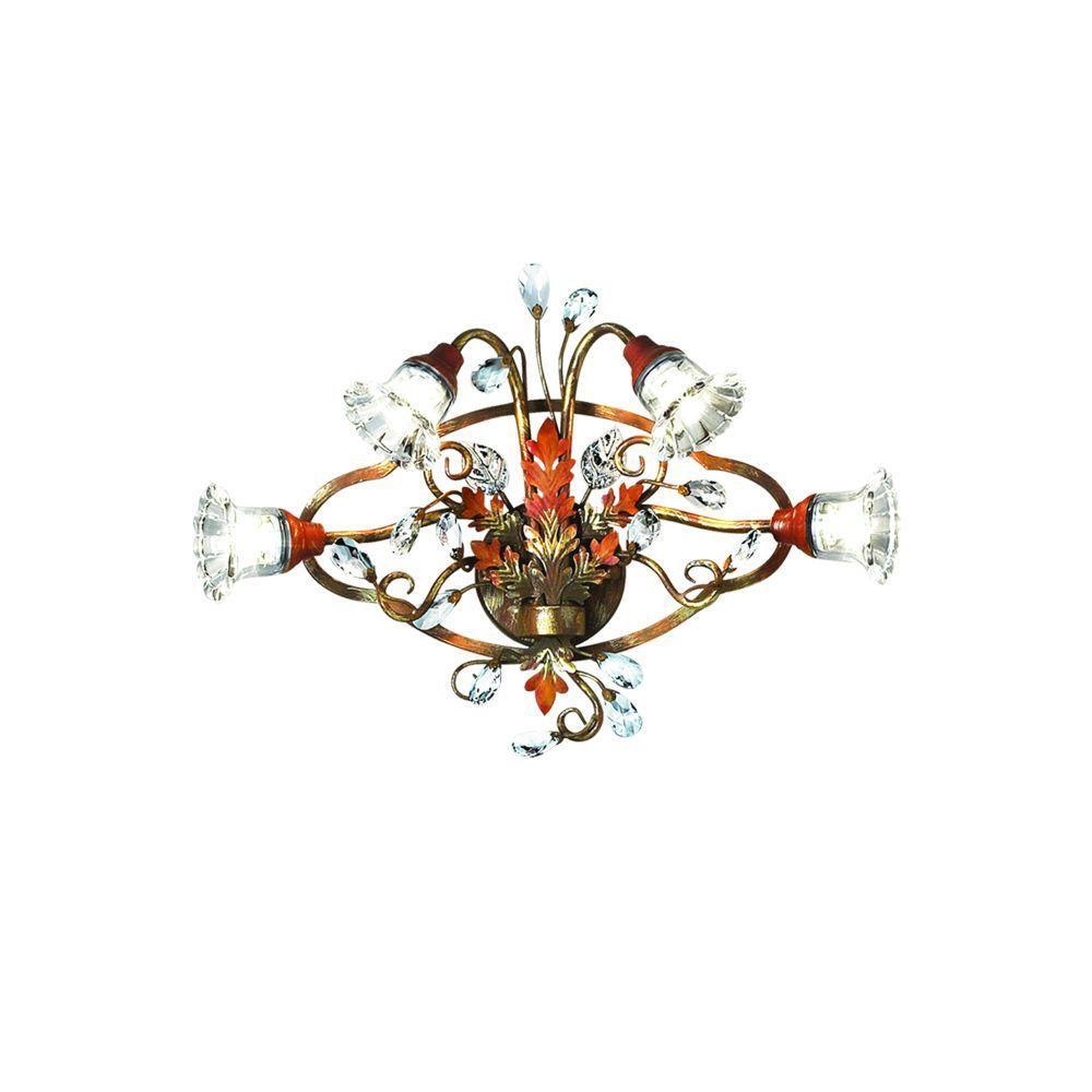 Eurofase Calista Collection 4-Light Russett Bath Bar Light