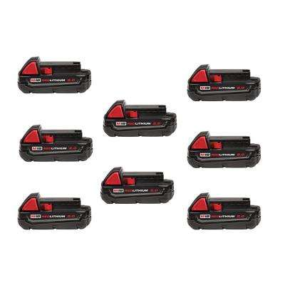 M12 12-Volt Lithium-Ion Compact Battery Pack 2.0Ah (8-Pack)