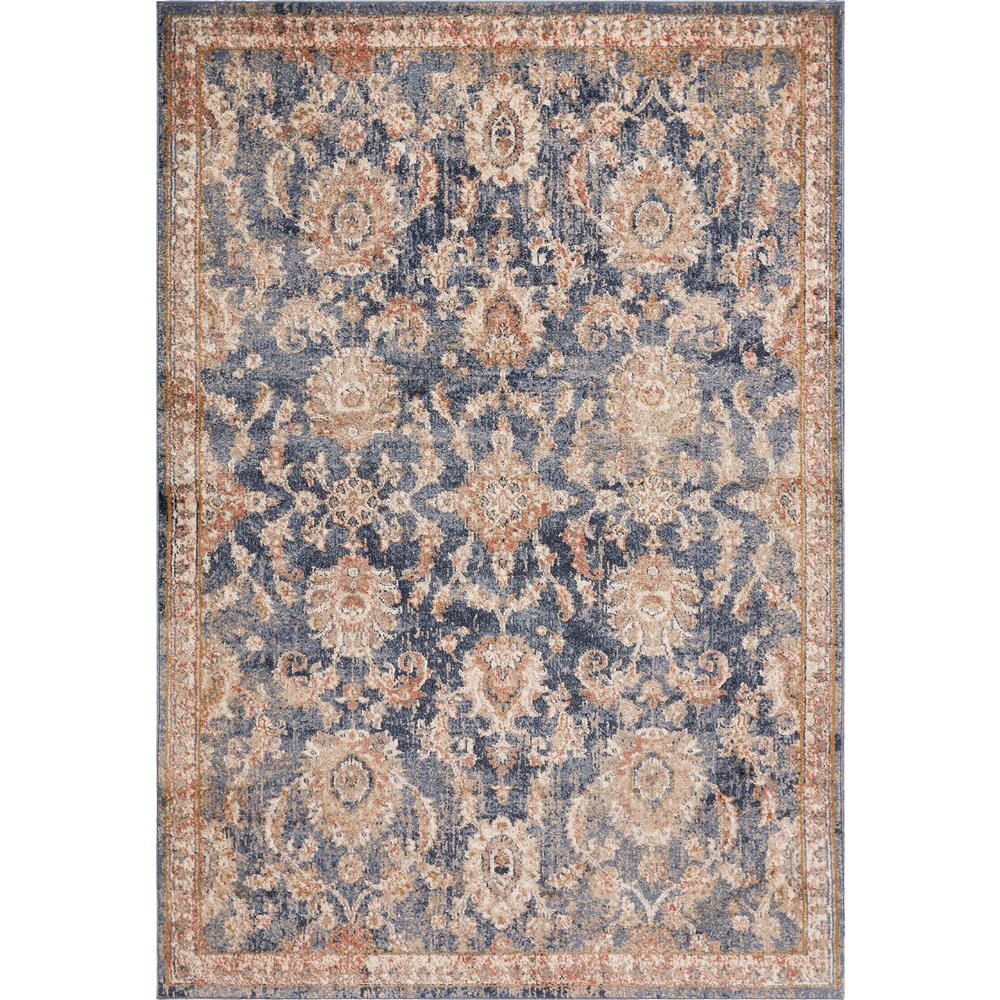 Kas Rugs Manor Denim Chester 5 ft. x 8 ft. Traditional Medallion Area Rug, Blue was $117.12 now $64.42 (45.0% off)