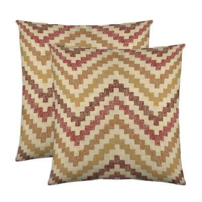 Izzy 18 in. x 18 in. Spice Decorative Pillow (2-Pack)