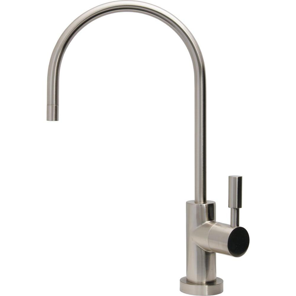 Ceramic Disc Single-Handle Beverage Faucet Lead Free Non-Air Gap in Brushed