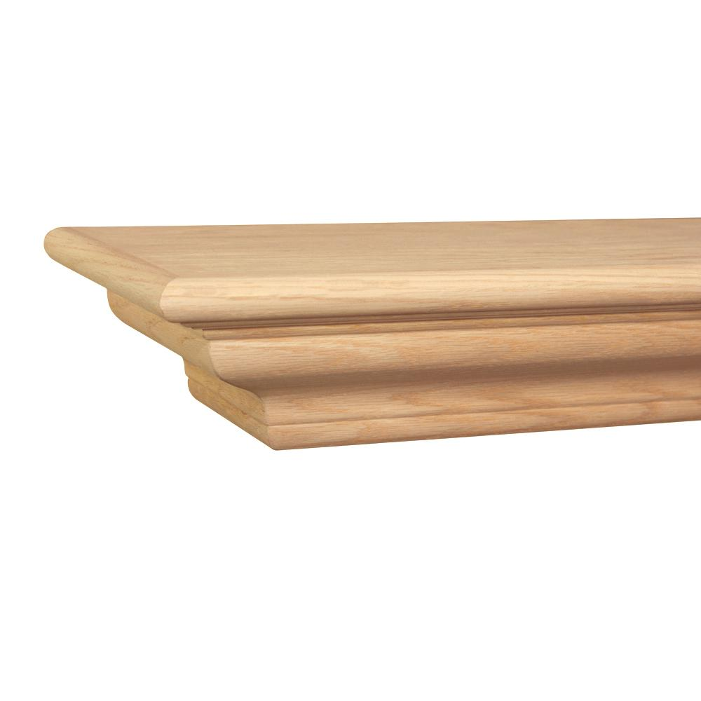 online store 8cb8b 84749 Builders Choice Victorian 5 ft. Oak Cap-Shelf Mantel
