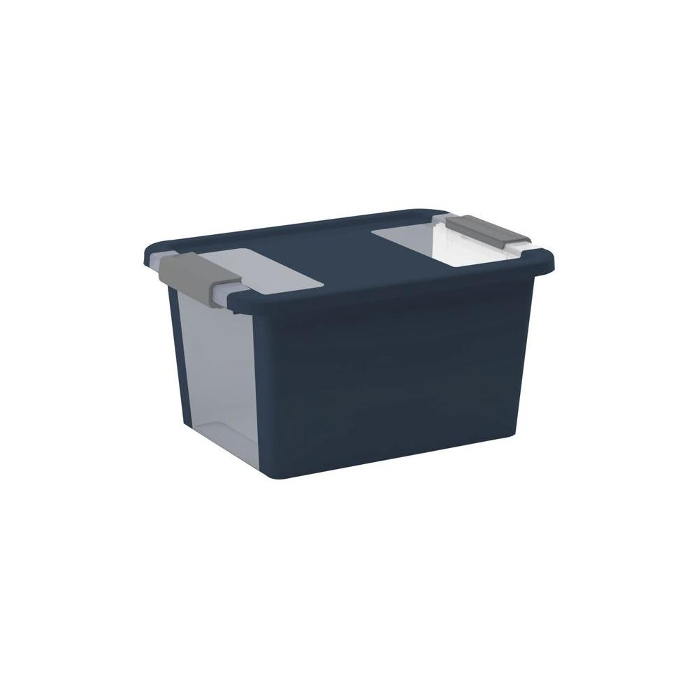 null Bi-Box S 12.3 qt. Storage Tote in Midnight Blue/Titanium (6-Pack)