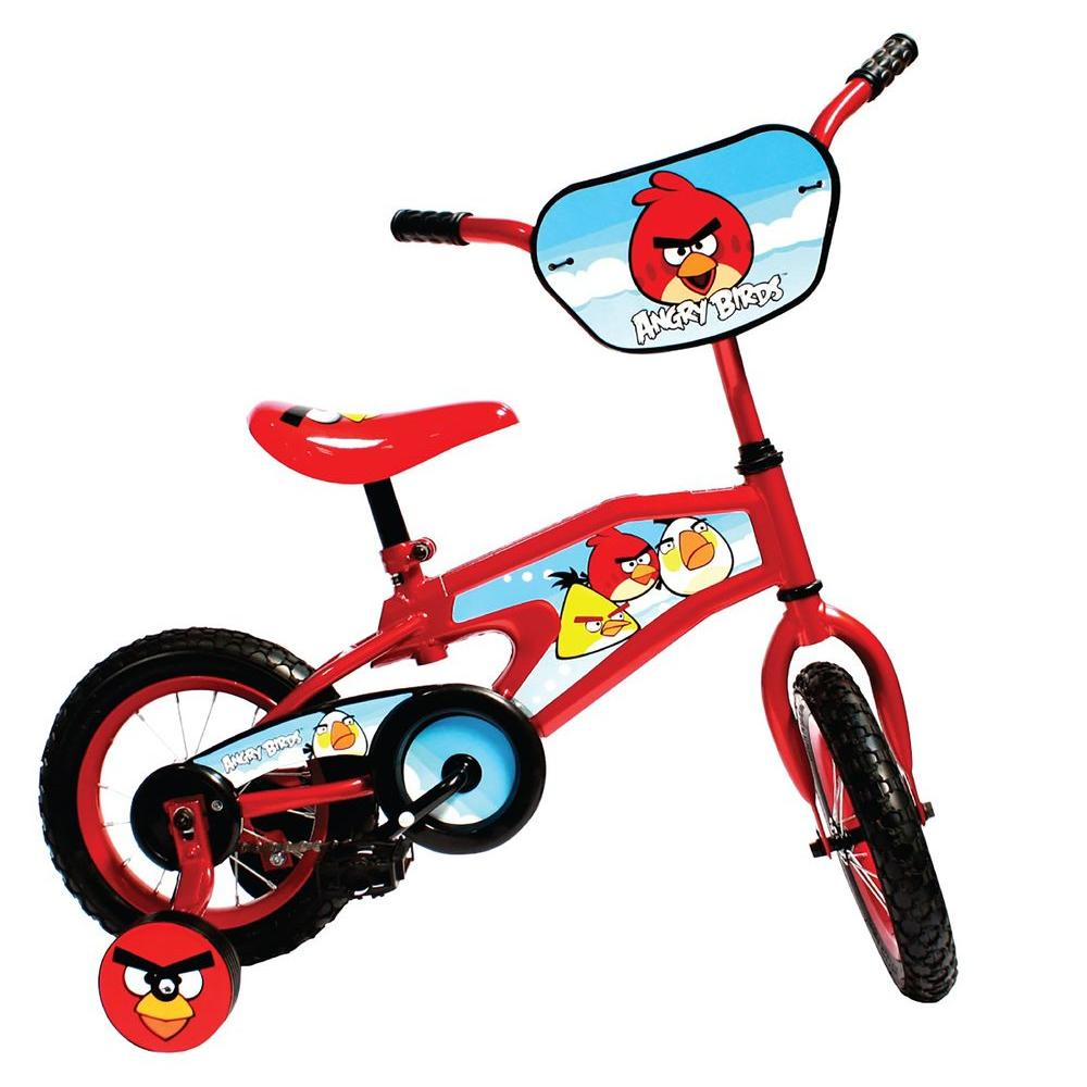 Cycle Force Group Street Flyers Angry Birds Kid's Bike, 12 in  Wheels, 8  in  Frame, for Boys and Girls in Red
