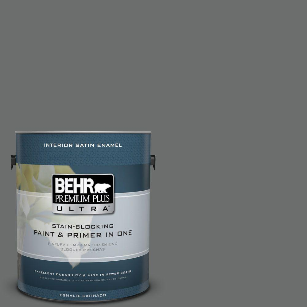 1 gal. #HDC-AC-17A Welded Iron Satin Enamel Interior Paint