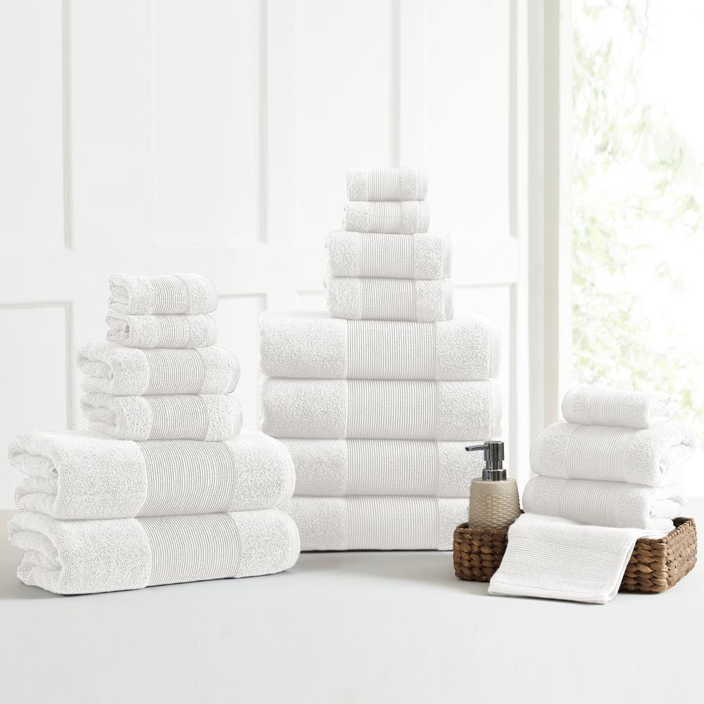 Air Cloud 18-Piece White Towel Set