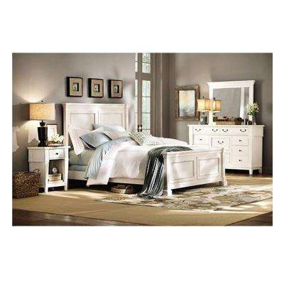 Charmant Bridgeport Antique White King Bed Frame