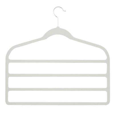 Velvet Touch 4-Step White Pant Hanger (10-Pack)