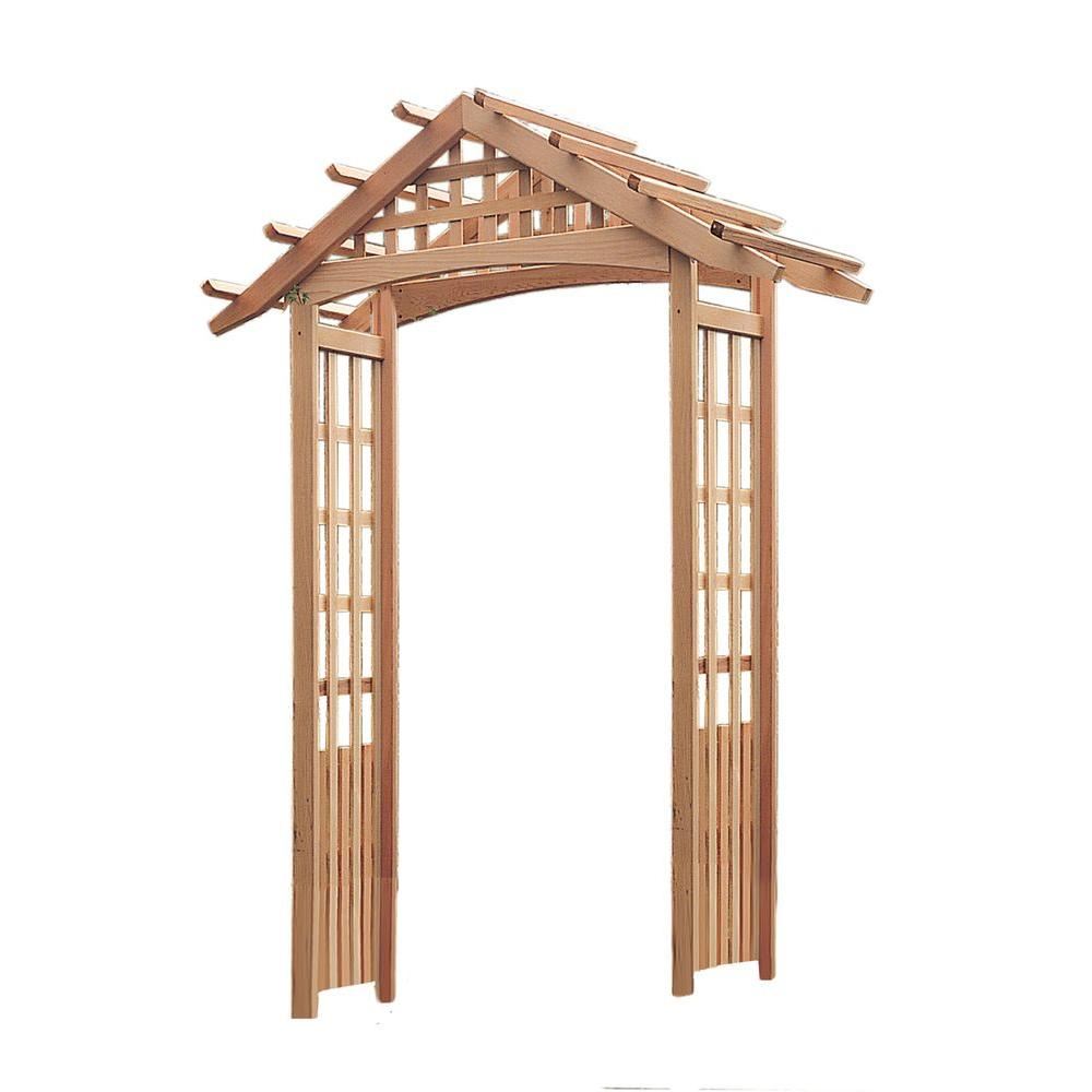 Nantucket 97 in. x 72 in. Outside Cedar Arbor