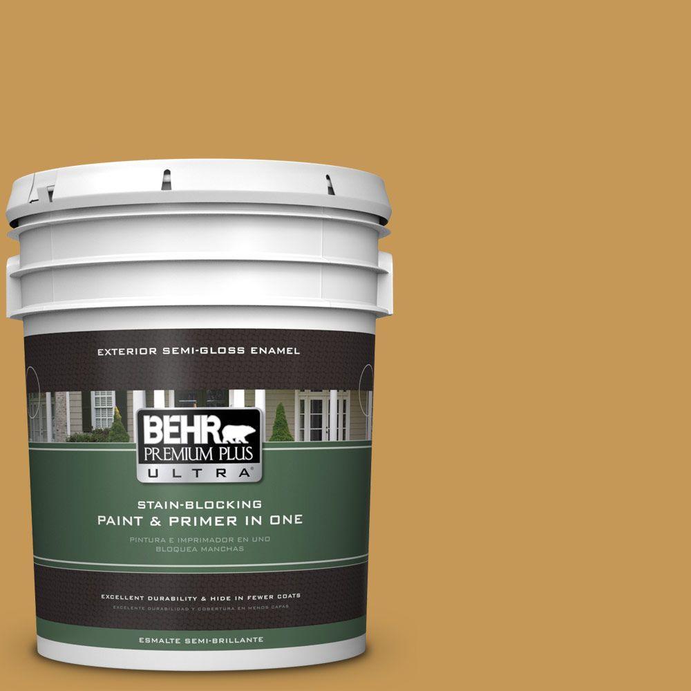 5-gal. #PMD-104 Amber Glass Semi-Gloss Enamel Exterior Paint