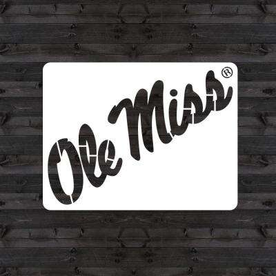 """OLE MISS"" Mini Stencil"