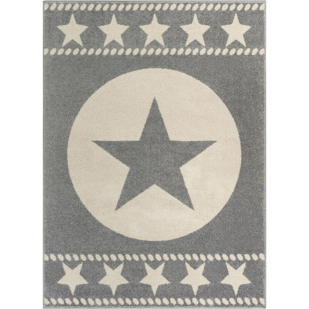 Well Woven Mystic Sparrow Modern Novelty Geo Grey 5 ft. 3 in. x 7 ft. 3 in. Area Rug
