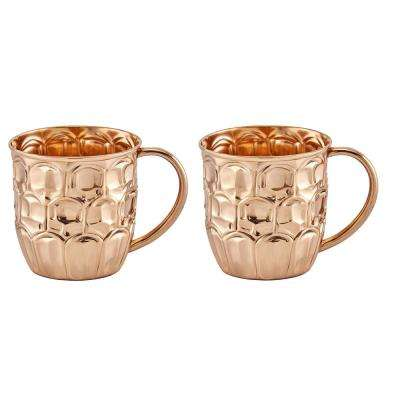 20 oz. Solid Copper Beer Krugs (Set of 2)