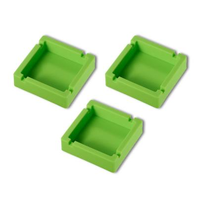 Elora Green Silicon Unbreakable Cigarette Ashtray (3-Pack)