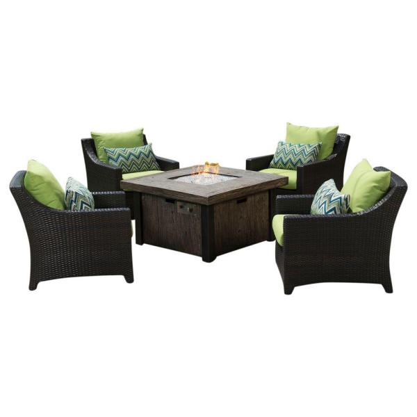 RST Brands Deco 5-Piece Patio Fire Pit Seating Set with ...