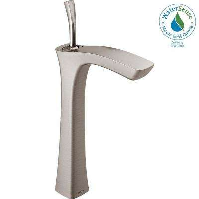 Tesla Single Hole Single-Handle Vessel Bathroom Faucet in Stainless