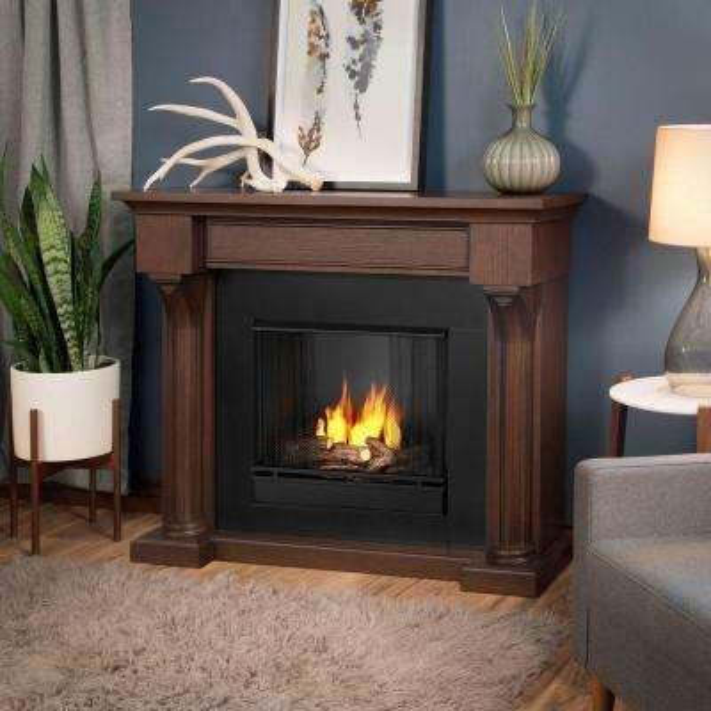 Verona 48 in. Ventless Gel Fireplace in Chestnut Oak