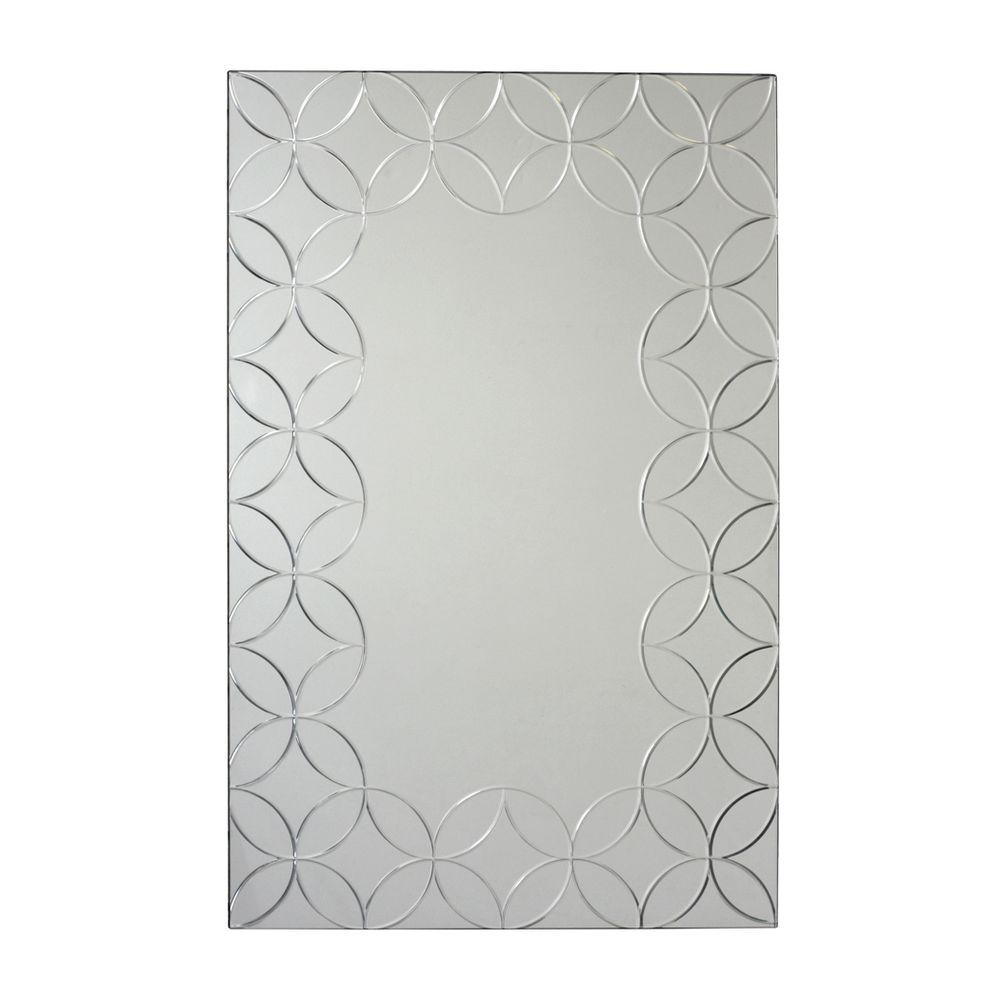 Deco Mirror 23.5 in. x 35.5 in. Geo Chic Rectangle Mirror