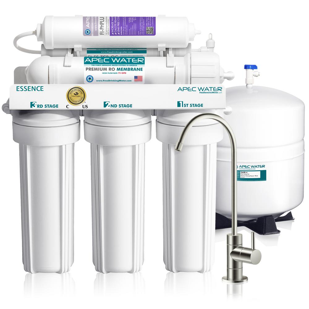 APEC Water Systems Essence Premium Quality 75 GPD pH+ Alkaline Mineral Under-Sink Reverse Osmosis Drinking Water Filter System