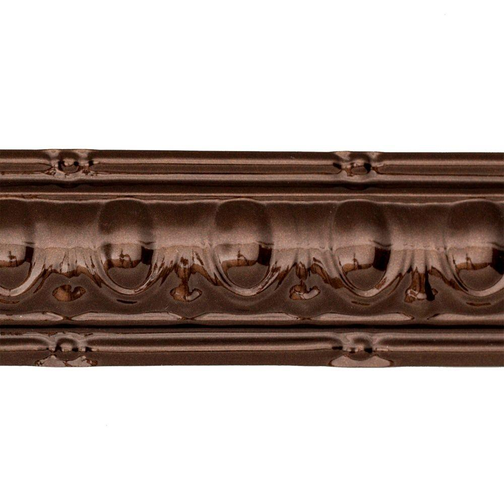 48 in. Huron Tin Crown Molding in Bronze Burst