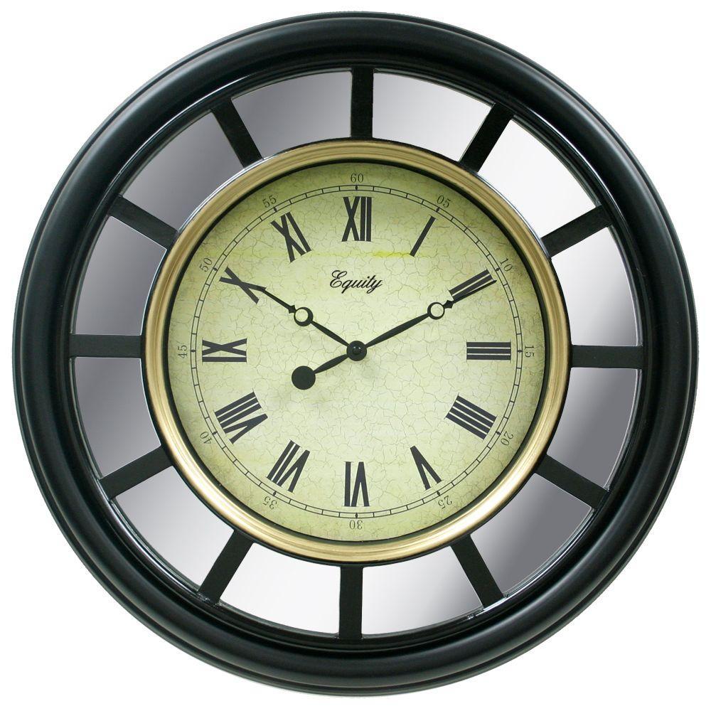 La Crosse Technology 22 in. Large Framed Mirror Wall Clock