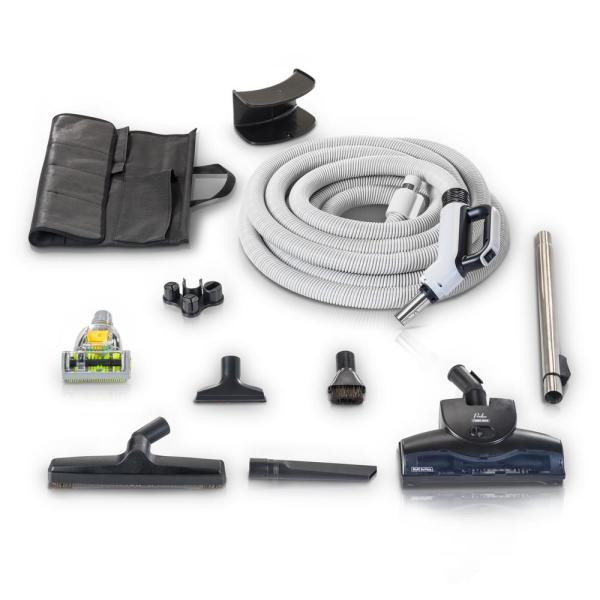 30 ft. Central Vacuum Hose Kit with Turbo Nozzles